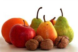 Obst und Hülsenfrüchte